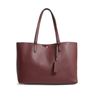Zeda Faux Leather Tote